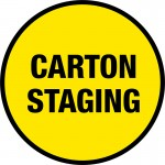 Carton Staging Floor Sign