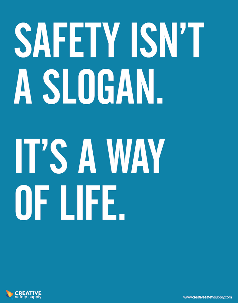 Safety Slogan Poster