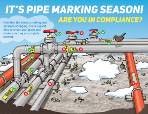 Pipe Marking Season Infographic
