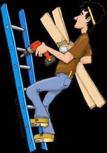 Image result for dangerous ladder cartoon