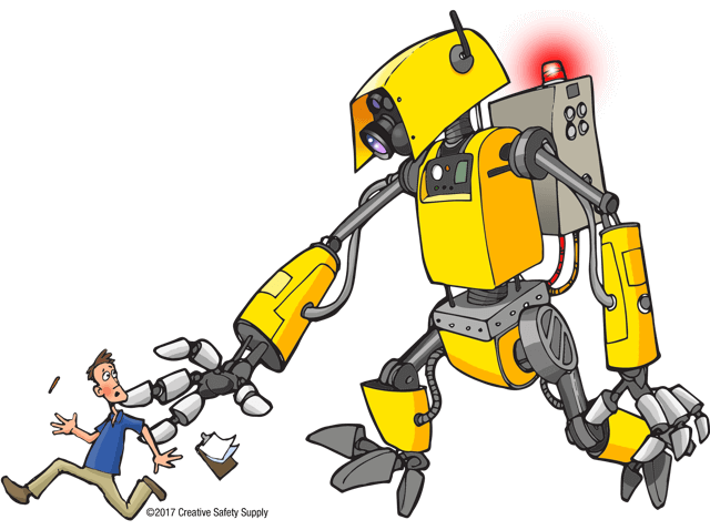 robot-chase