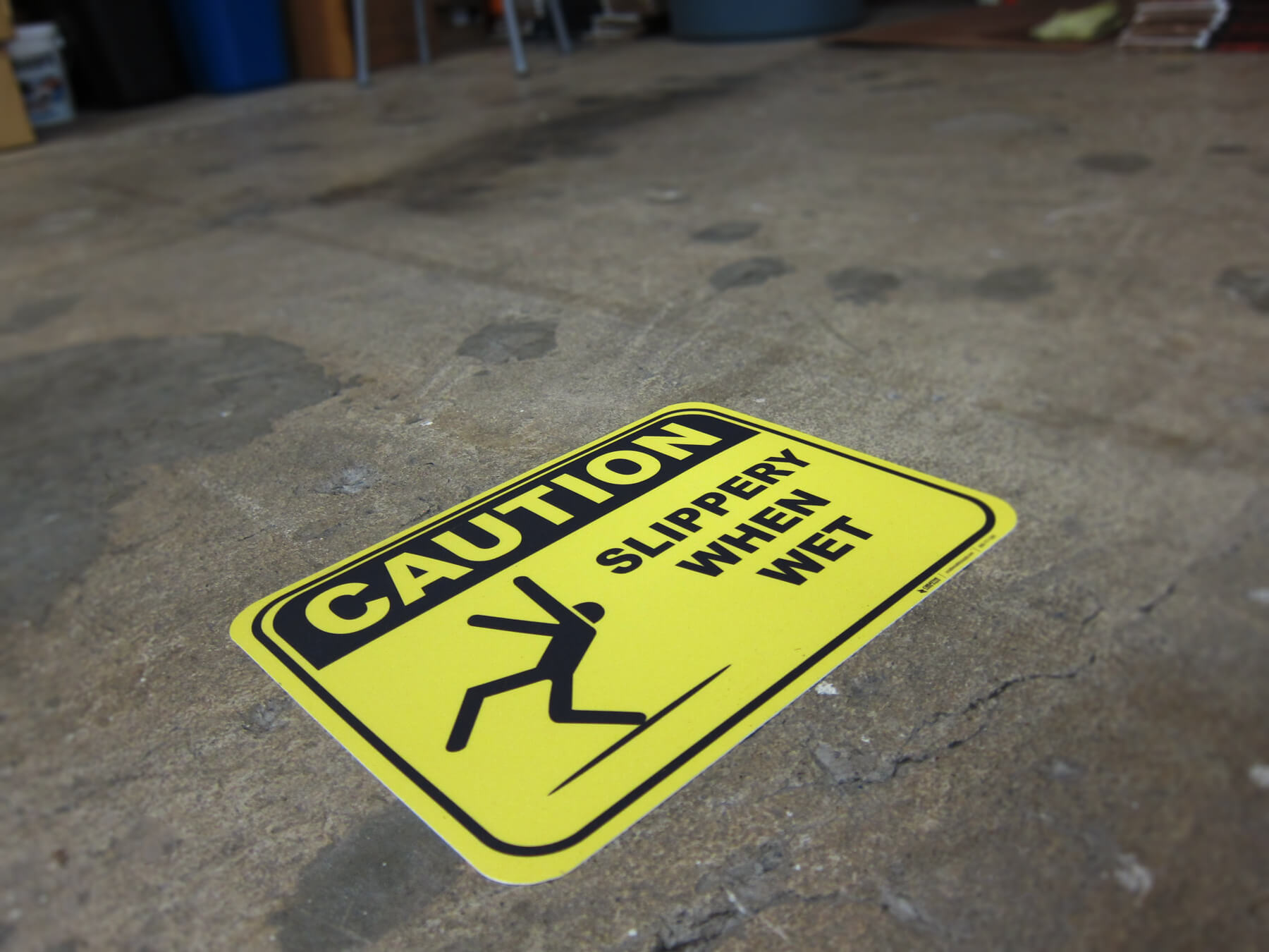 Warehouse Warning Sign