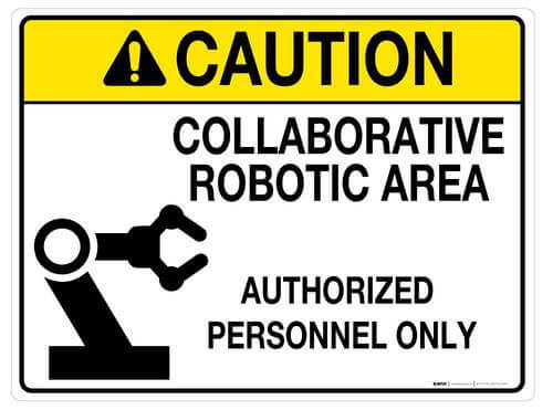 Caution COBOT safety sign