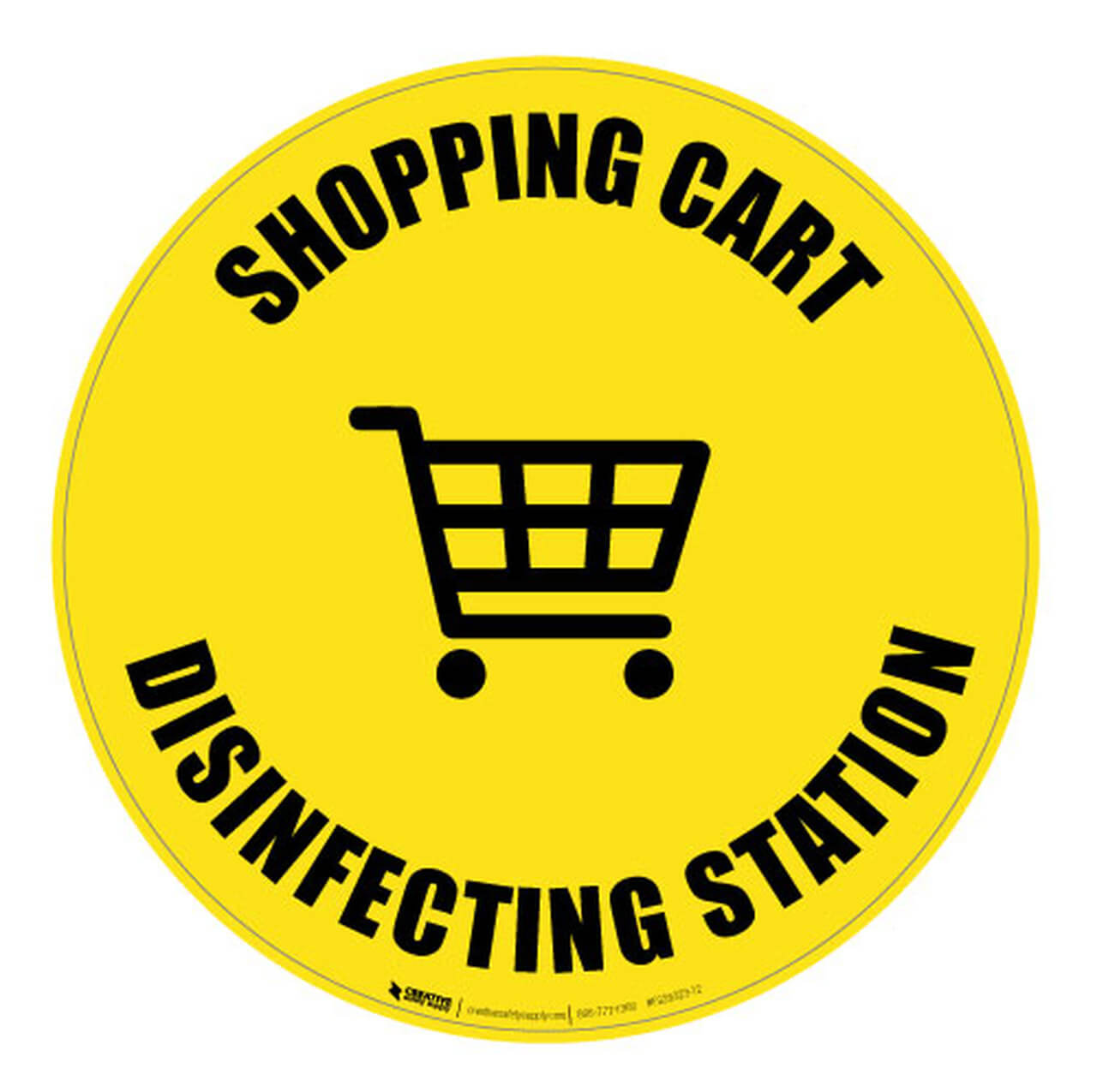 Shopping Cart Disinfecting Station