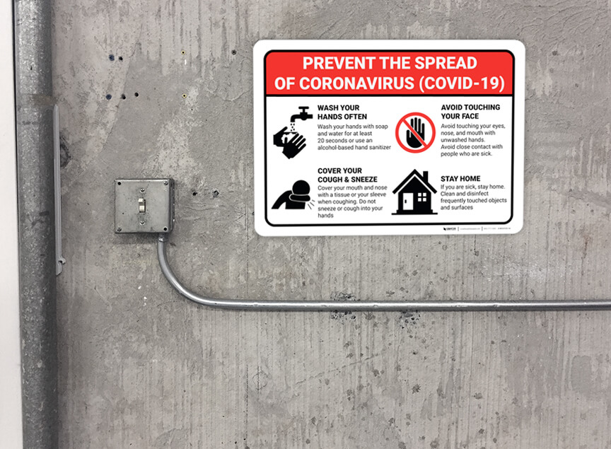 Coronavirus Safety Sign in Facility