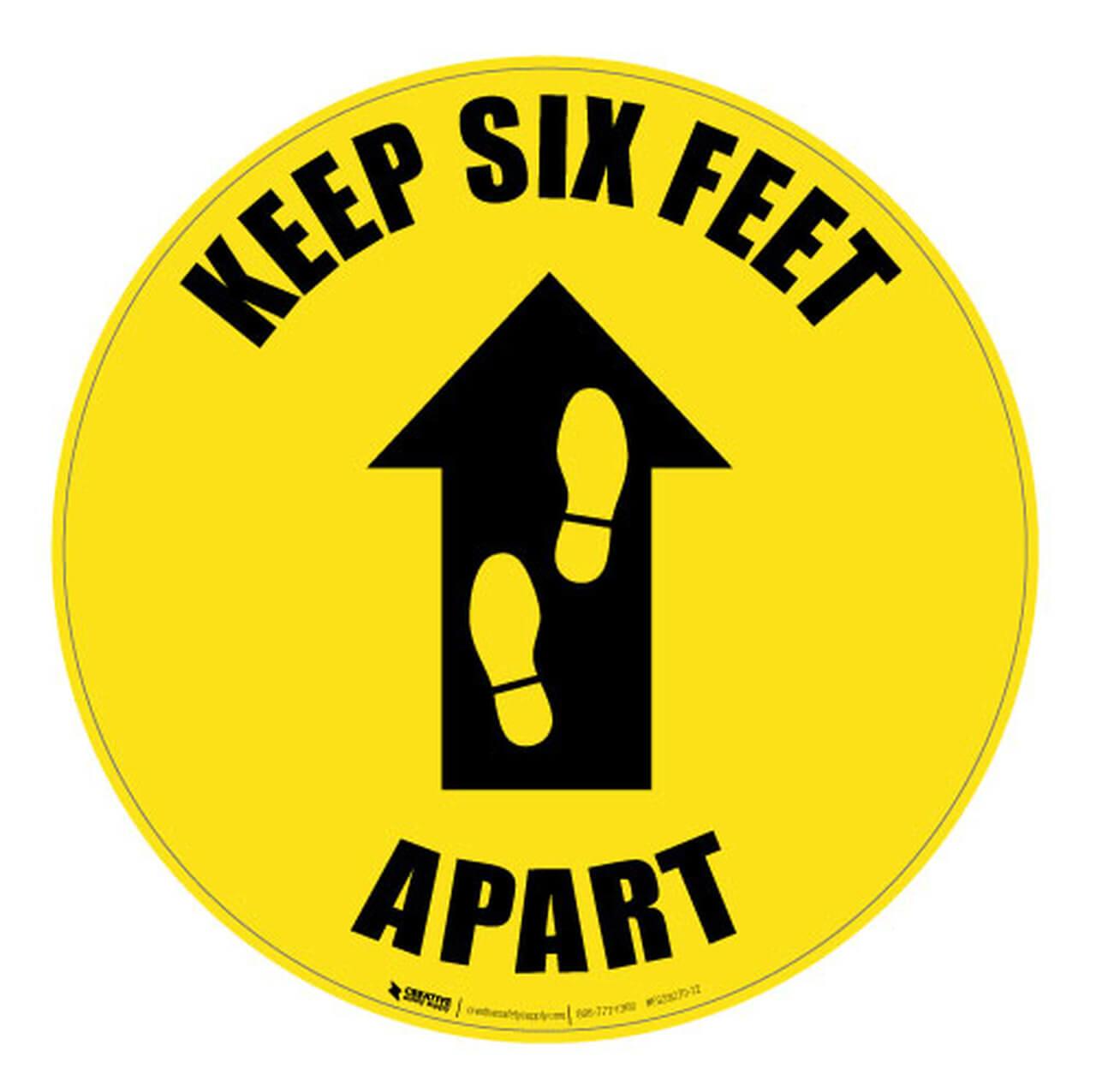 Keep Six Feet Apart Floor Sign