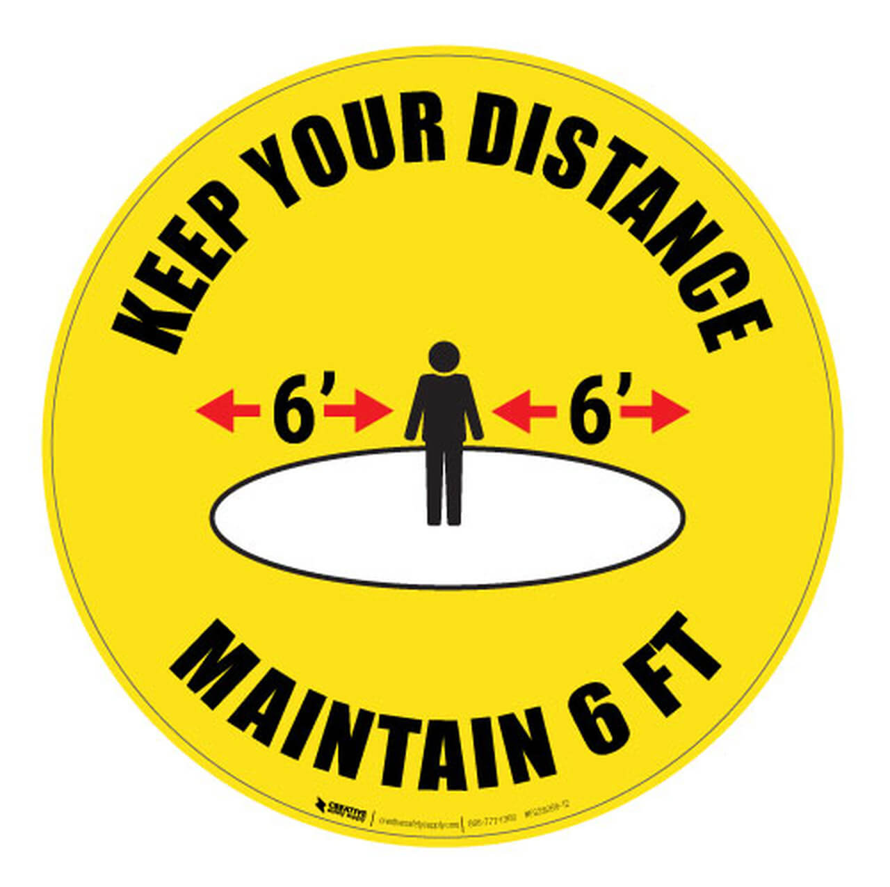 Keep Your Distancing Floor Sign
