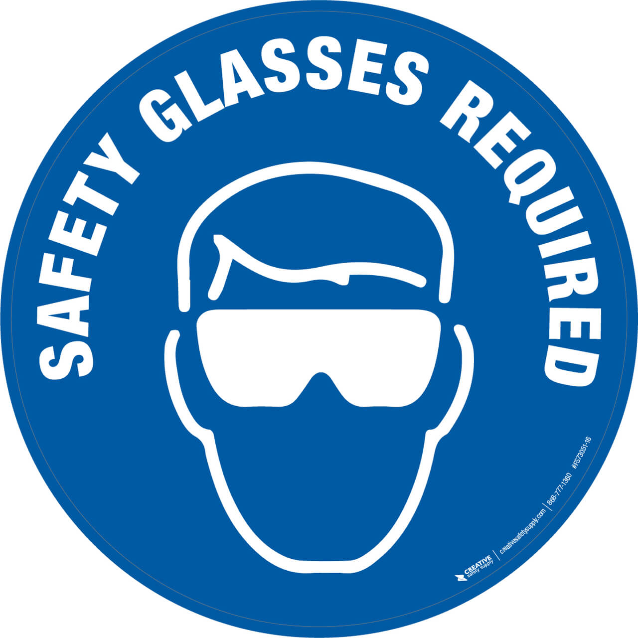 Safety Glasses Required - Floor Sign