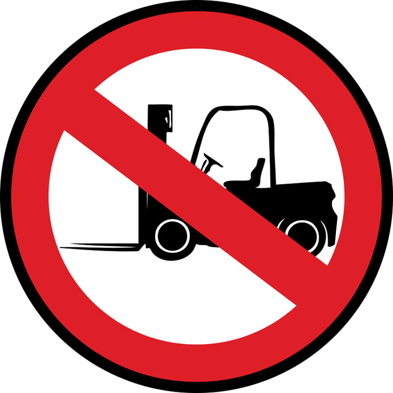 Forklifts Prohibited Floor Sign