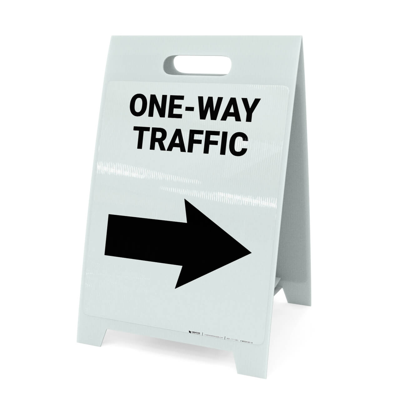 One Way Traffic A Frame Sign