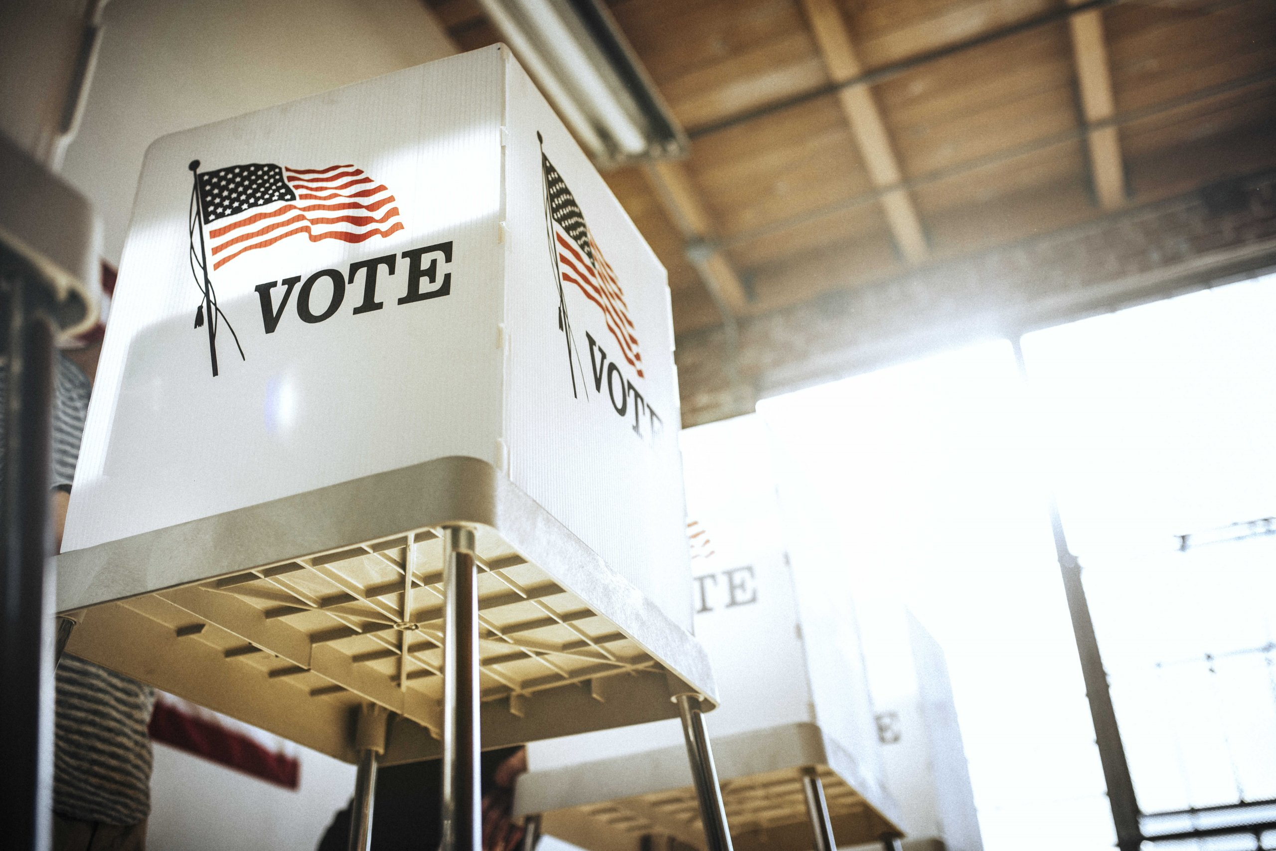 Voter Booths at Polling Location